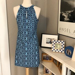 Jude Connally Dresses - Jude Connally Lisa Dress S NEW Geometric Navy Blue